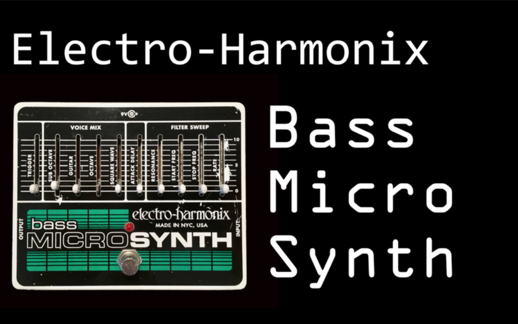 EHX bass micro synth demo